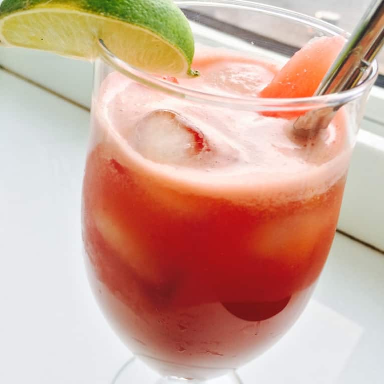 Healthy-ish Summer Cocktail! Spicy Watermelon Margarita