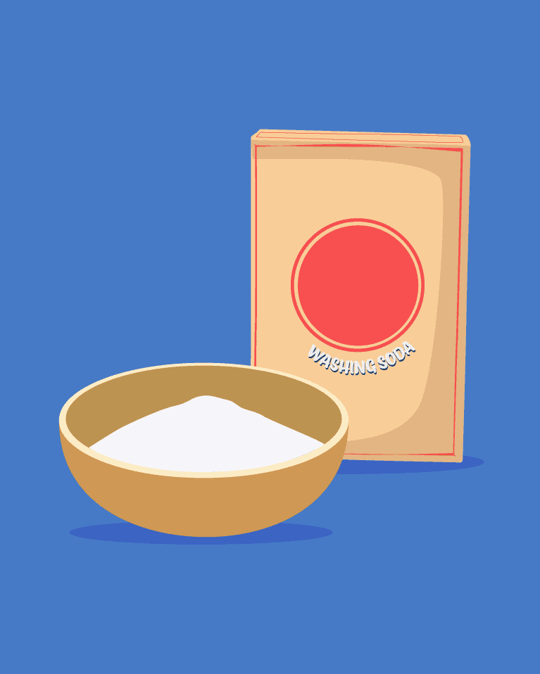 illustration of washing soda