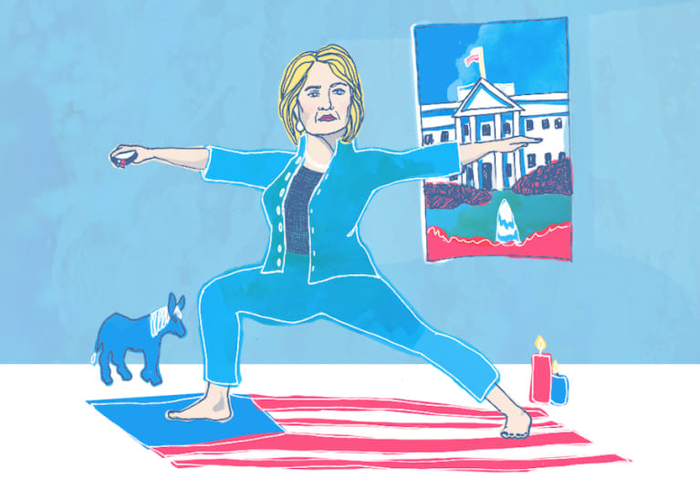 How Yoga Factors Into Hillary Clinton's Campaign Strategy