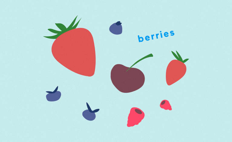 illustration of berries