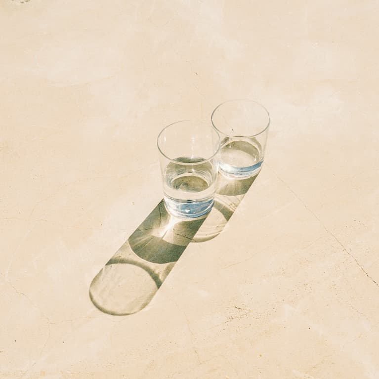 Water Glasses in Sunlight
