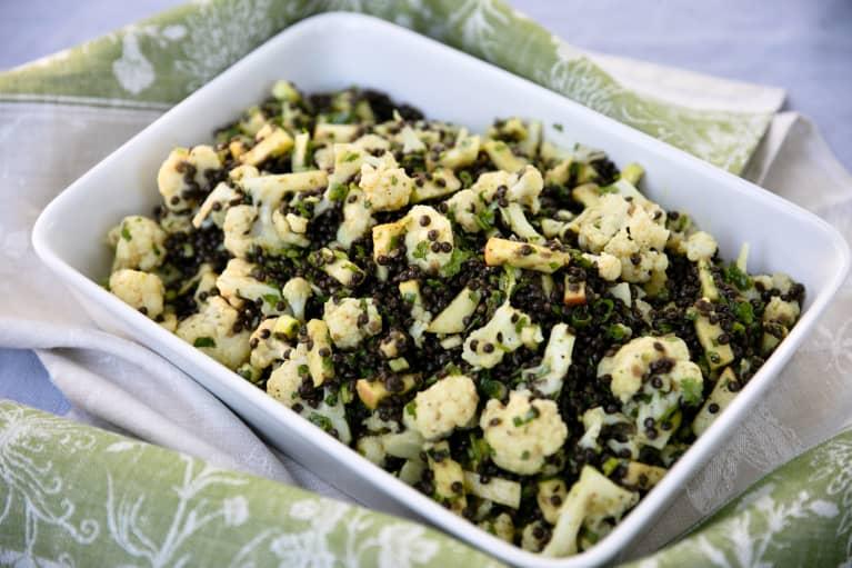 lentil and cauliflower salad