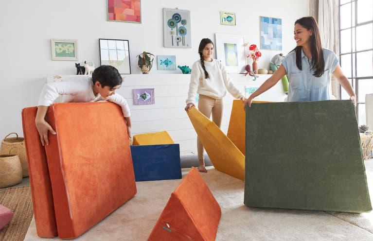 Stir-Crazy Kids? How To Transform Your Living Room Into A Playground (Safely)