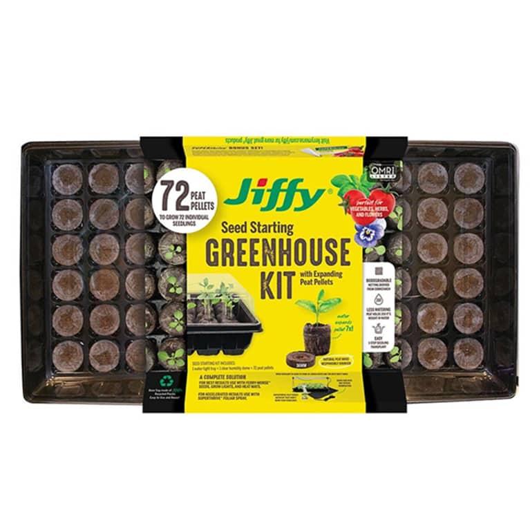 tray kit with 72 tiny soil pellets