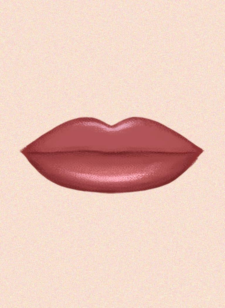 wide lips