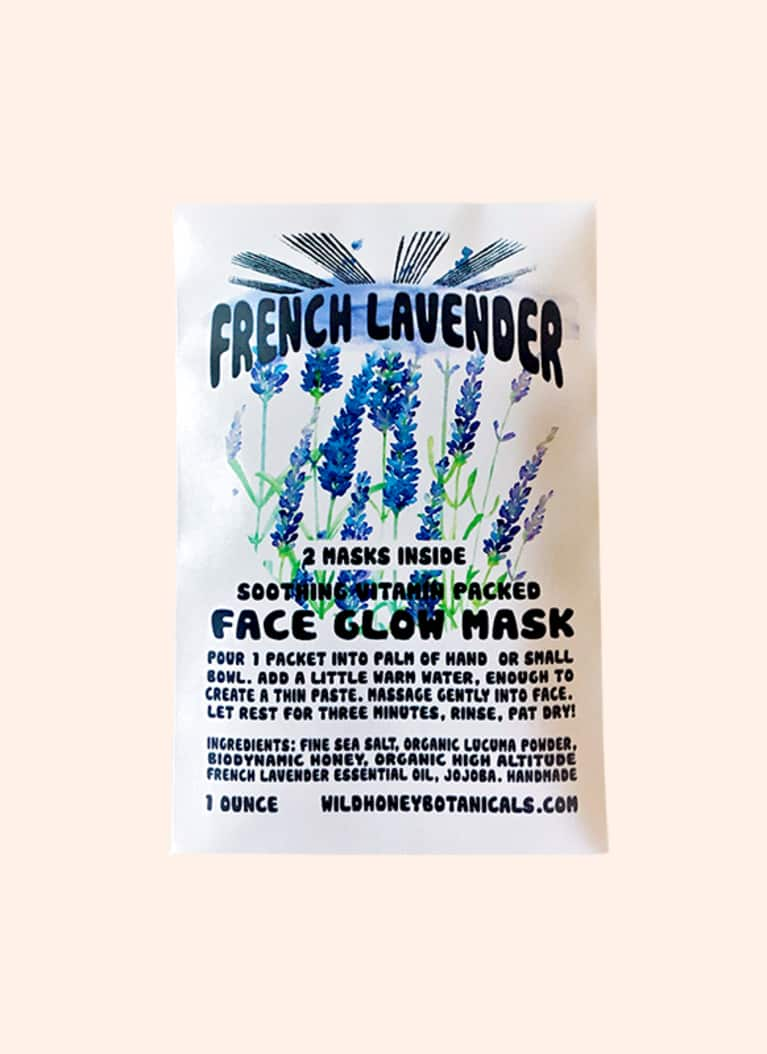Wild Honey Botanicals lavender face mask