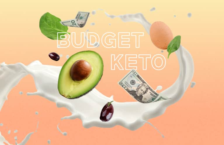 collage of budget keto foods