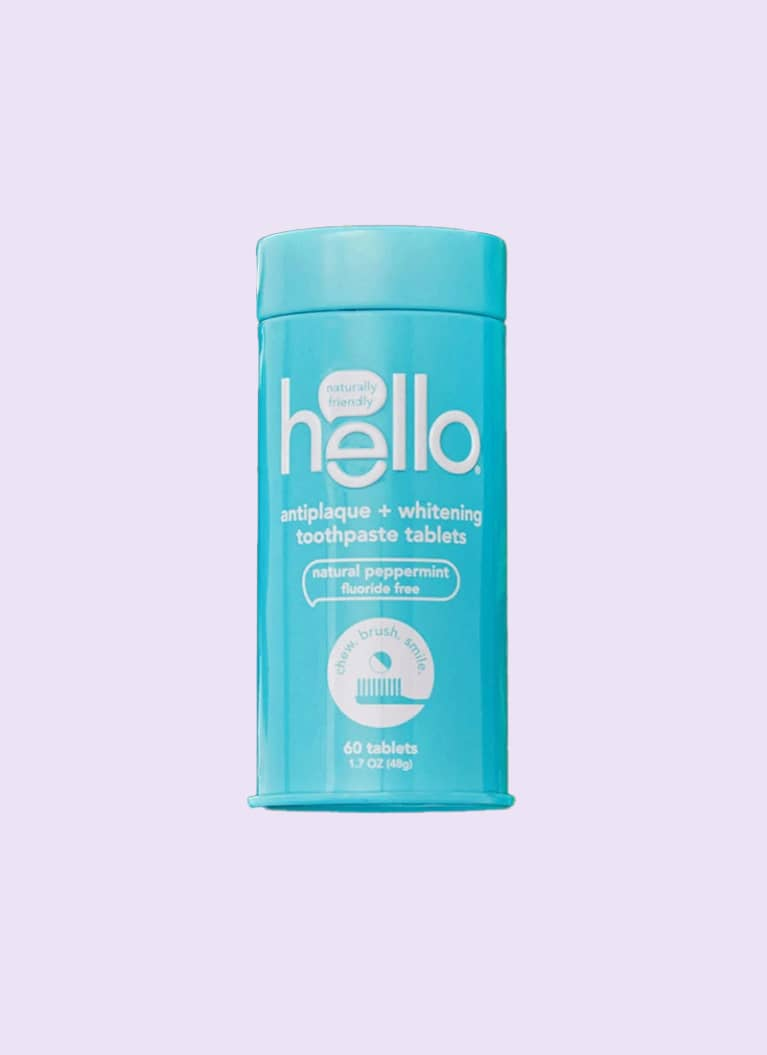 hello toothpaste tablets package