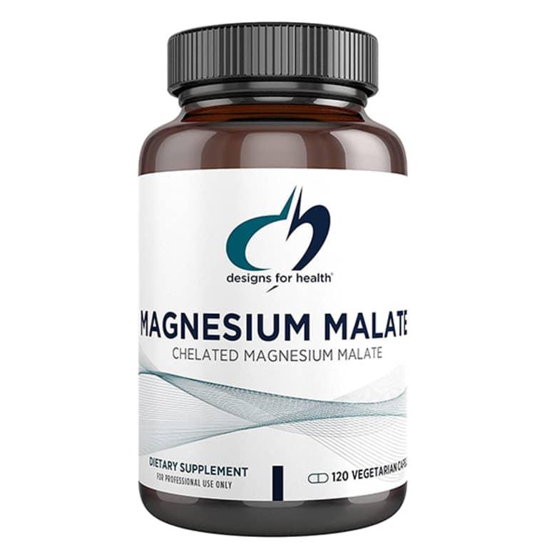 white magnesium supplement bottle
