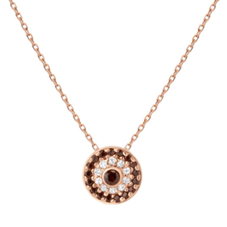 circular necklace with citrine gemstones on a gold chain