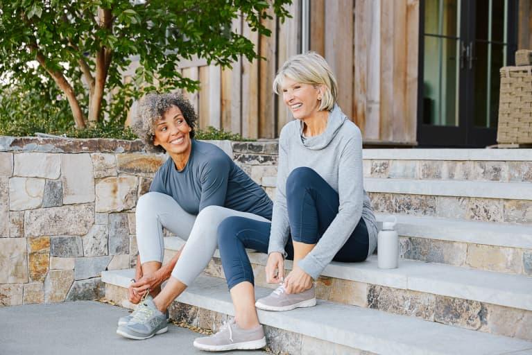 Older Women Getting Ready for a Jog