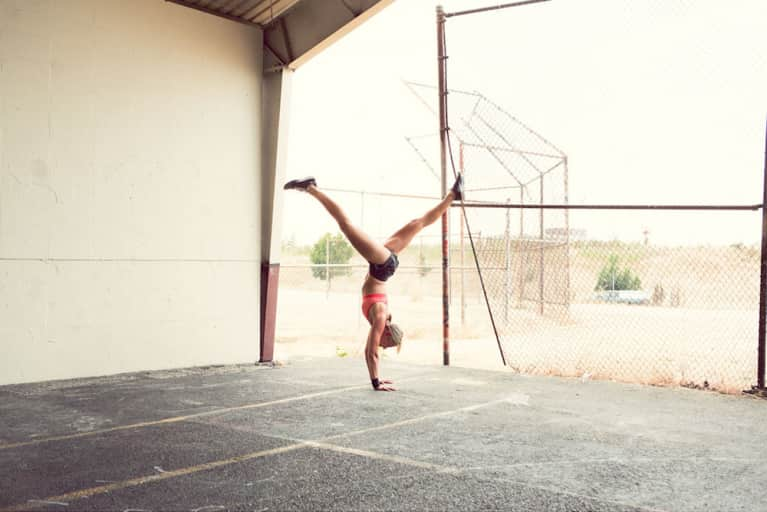 4 Exercises To Help You Finally Do A Handstand