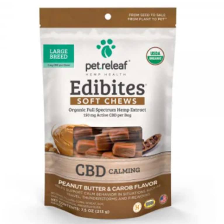 Pet Releaf CBD chews packaging