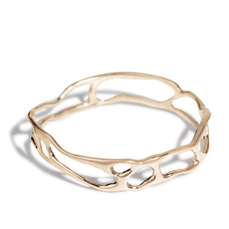 recycled metal bangle bracelet