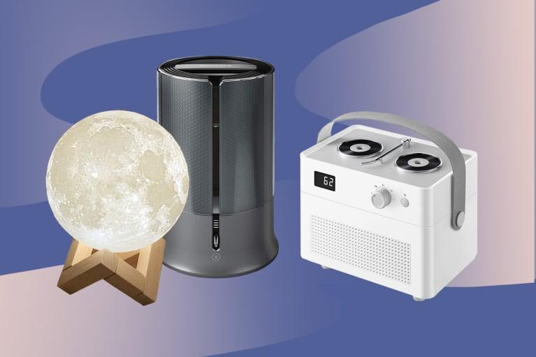 three small humidifiers