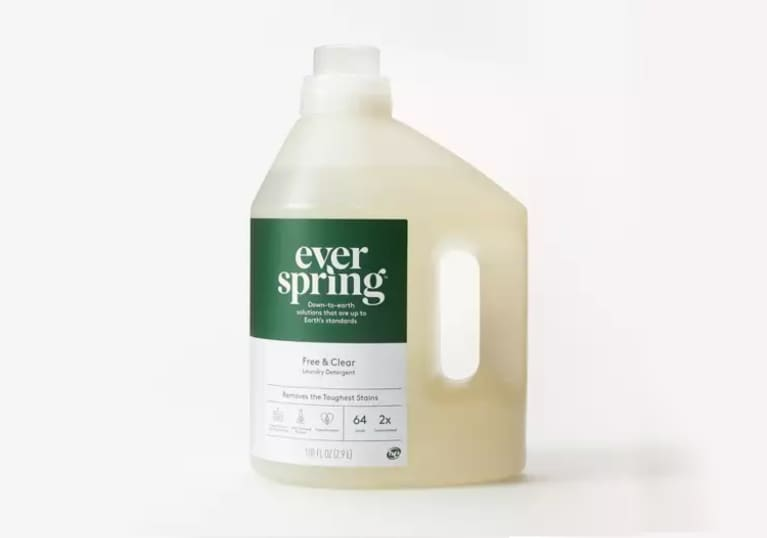 <p>Free &amp; Clear Liquid Laundry Detergent - Everspring™</p>