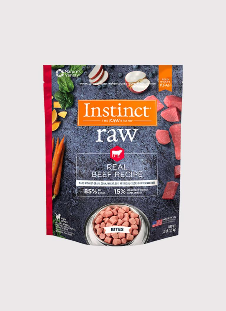 Instinct Raw Frozen Bites Beef Recipe