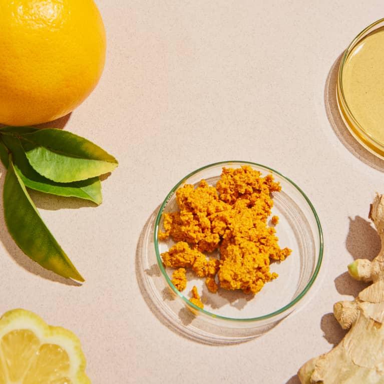 Overhead of Immune Boosting Foods Like Oranges, Lemon, Ginger, and Turmeric