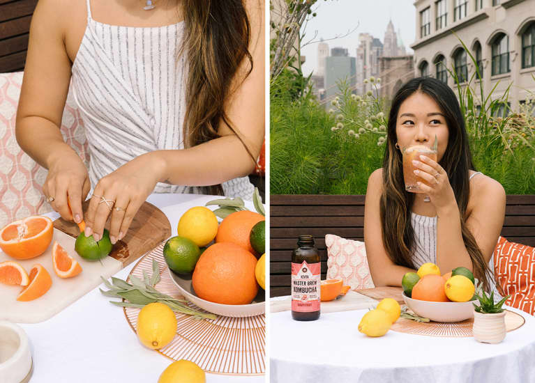 Booch Lovers, Here's How To Make A Summer-Fresh Kombucha Infusion