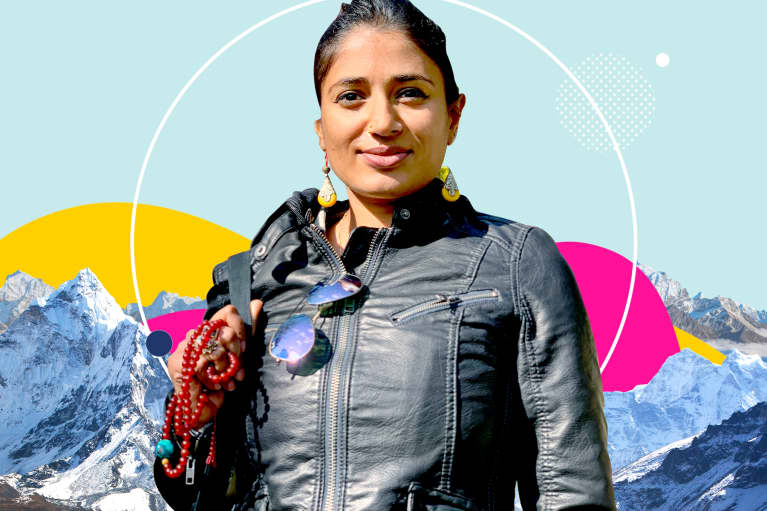 Wasfia Nazreen talks with mindbodygreen on female climbers