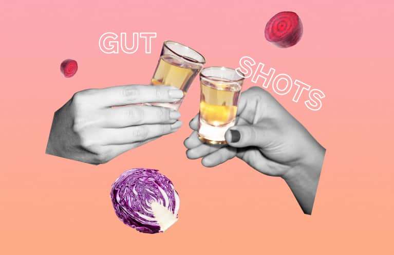 collage about gut shots
