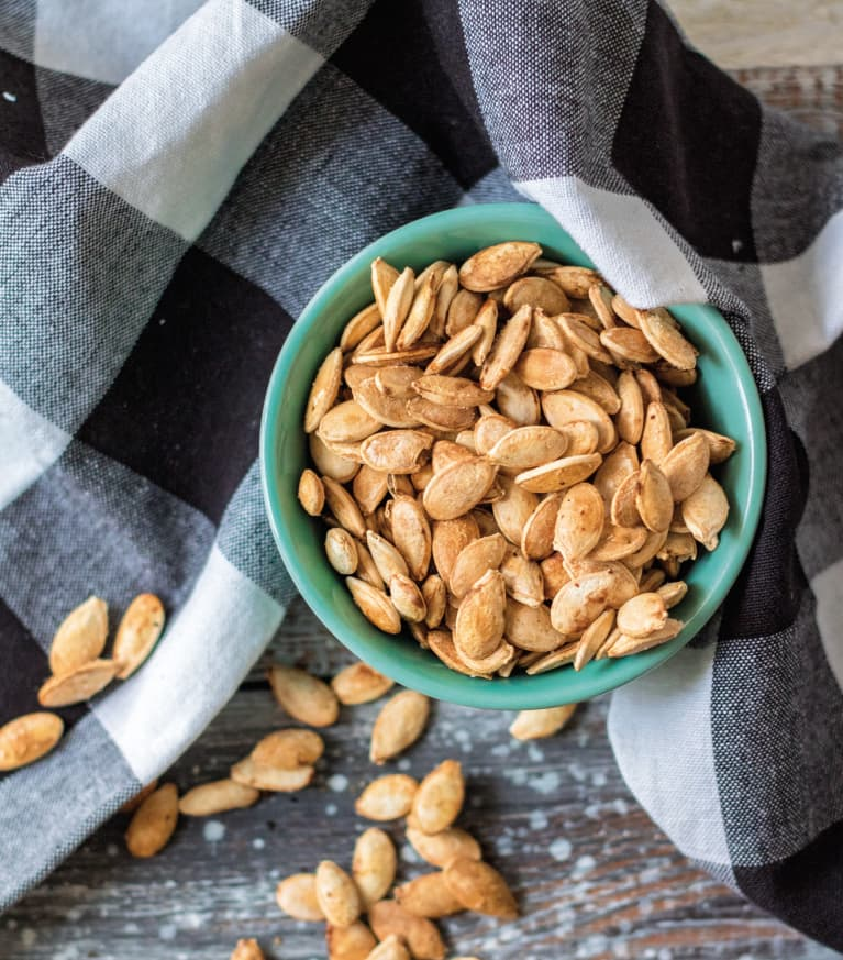 roasted salt and vinegar pumpkin seeds