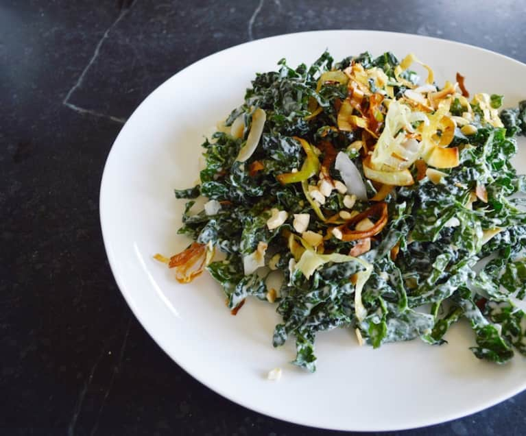 Shredded Coconut Kale Salad