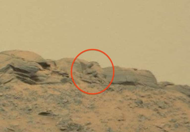 Is This A Buddha Statue On Mars Or Just A Pile Of Rocks?