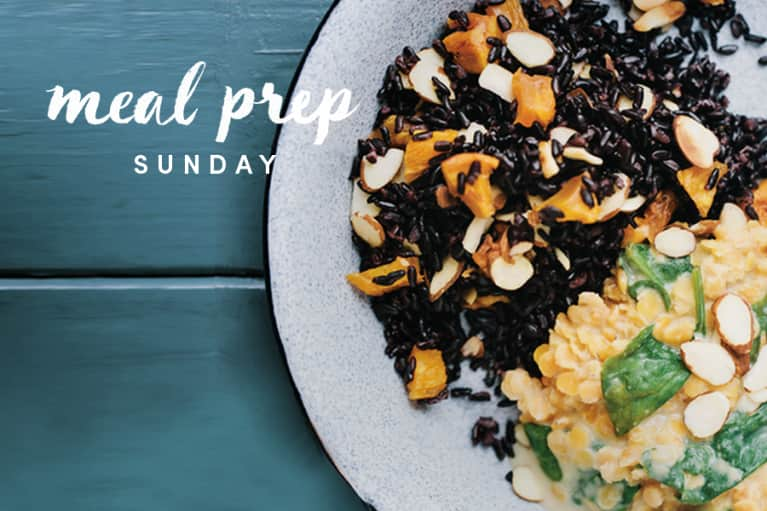 Meal Prep Sunday: Black Rice + Red Lentils