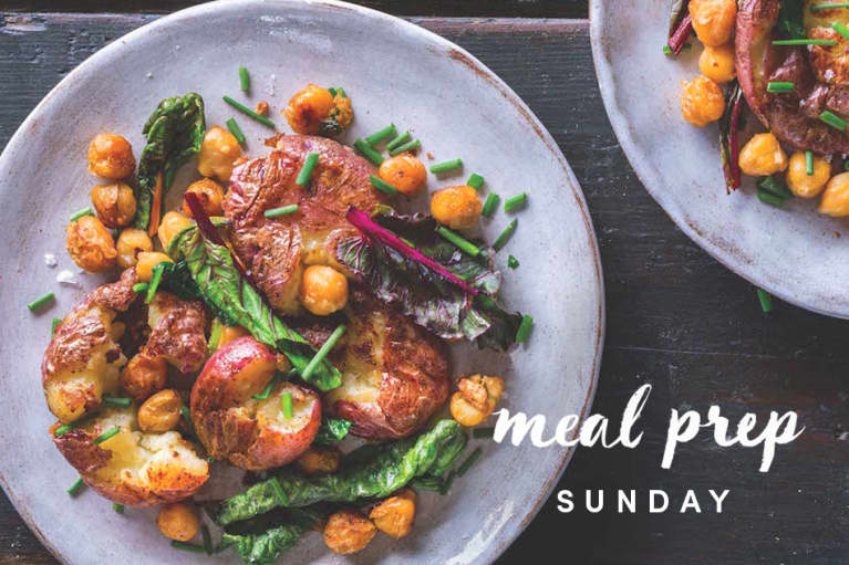 Meal Prep Sunday: A Smashed Potato + Chickpea Hash For Radiant Skin