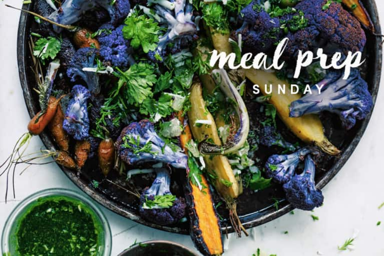 Meal Prep Sunday: Beautifying Roasted Carrots + Cauliflower With Lime Sambal