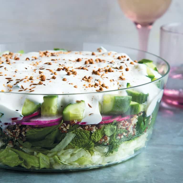 The Ultimate Potluck Appetizer: 7-Layer Quinoa Salad