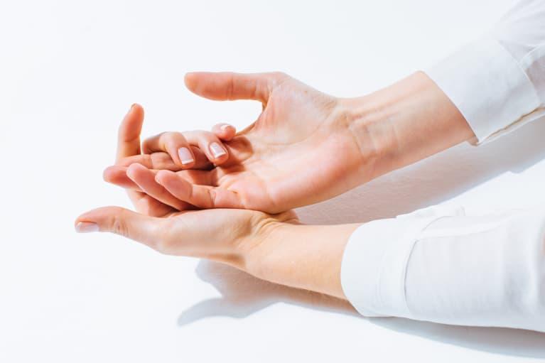 Hands in Bright Light