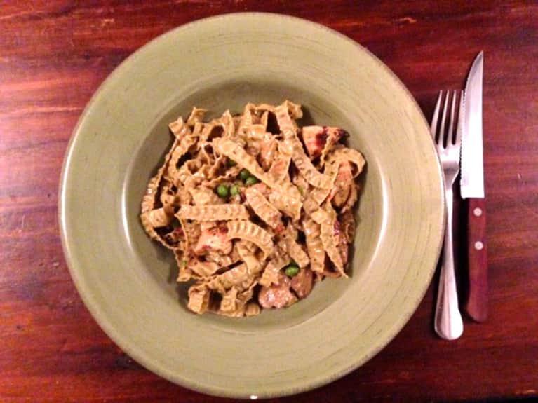 Gluten-Free Recipe: Pesto-Mushroom Fettuccine