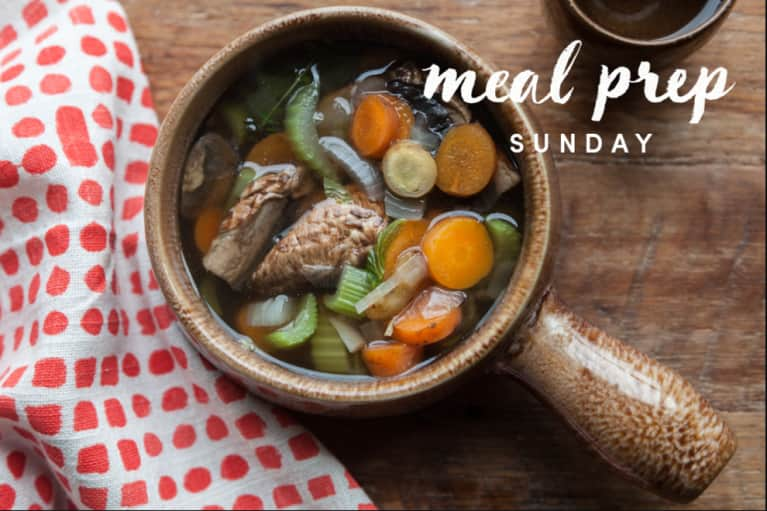 Meal Prep Sunday: Sugar Detoxing Mushroom Soup Edition