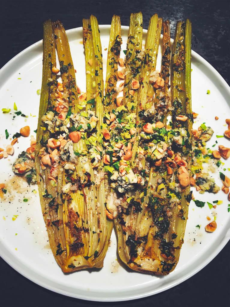 Slow Roasted Celery