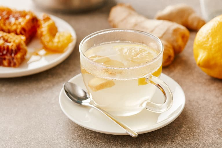 Lemon, Ginger, and Honey in Hot Water