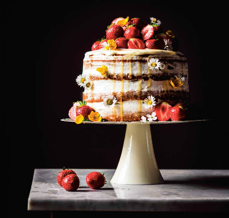 Vegan refined sugar-free celebration layer cake
