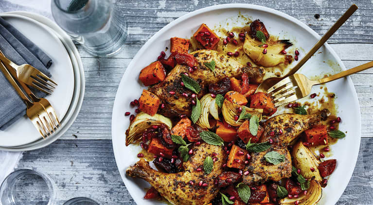 Make This Moroccan Chicken Tonight Using A Just Single Sheet Pan