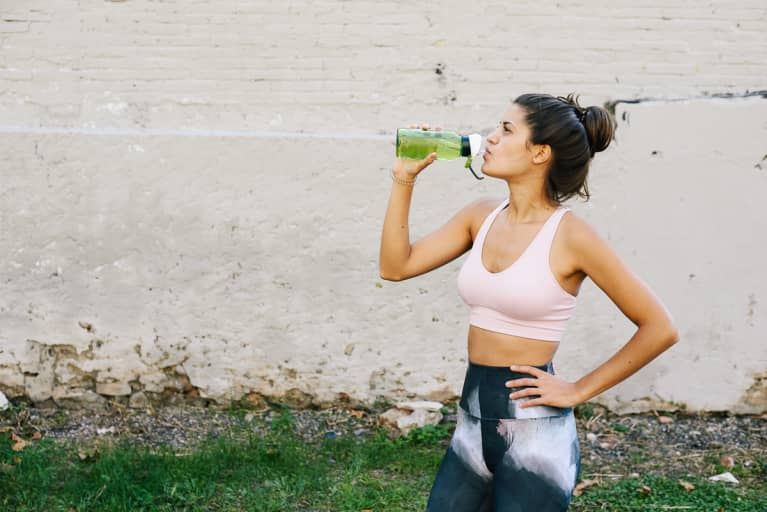Athletic Woman Drinking Water