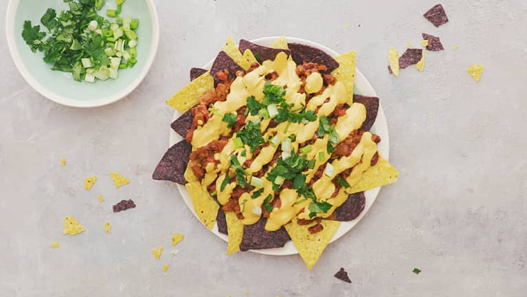 You Won't Believe These Chili Cheese Nachos Are Actually Meat- And Dairy-Free
