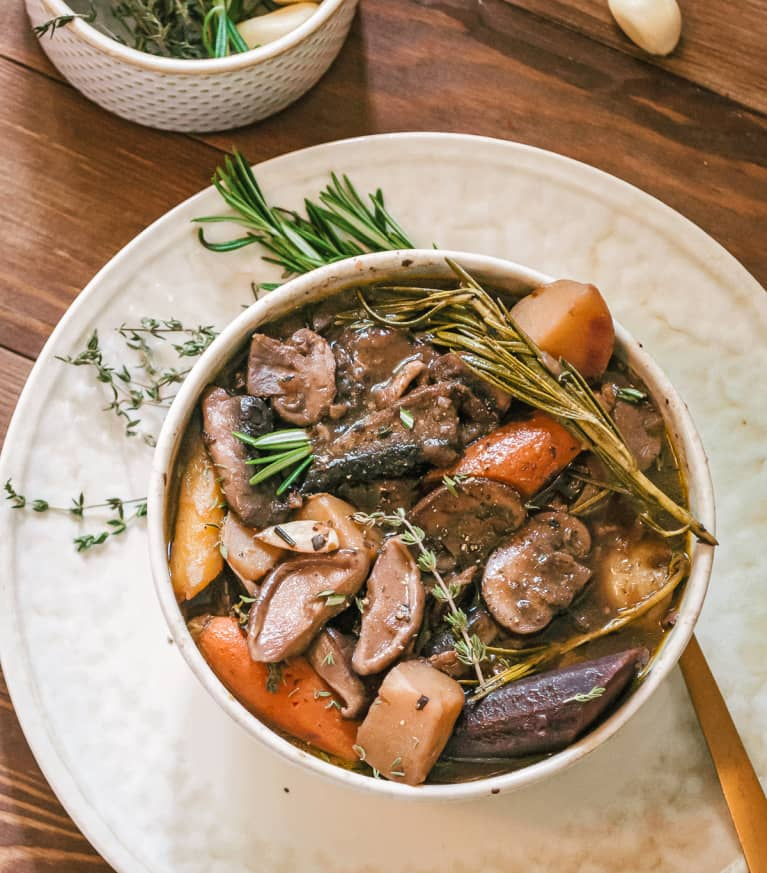 Garlic and Wild Mushroom Pot Roast