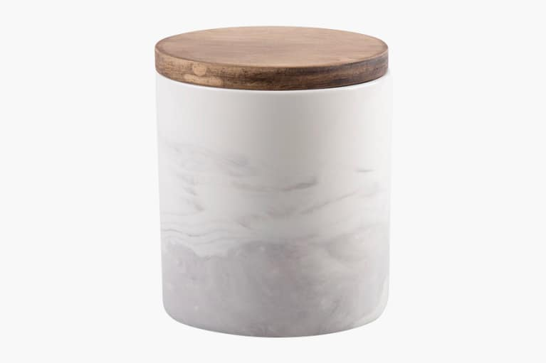 <p>Artisanal Kitchen Supply® Coupe Marbleized 20 Canister with Wood Lid</p>