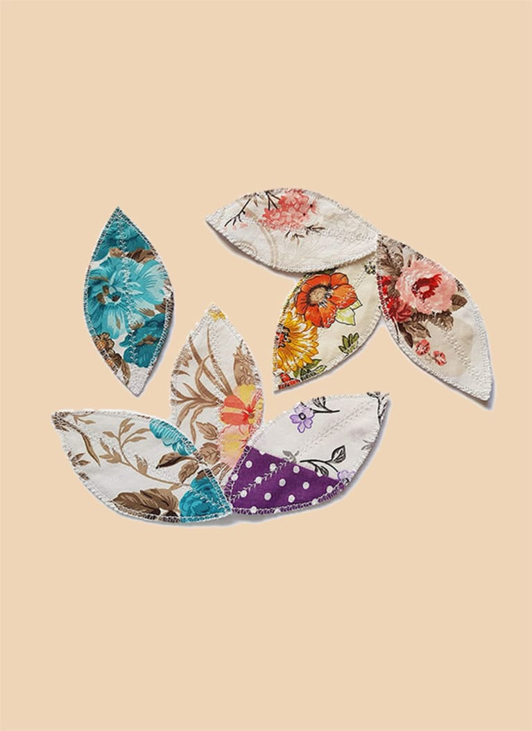 reusable pads in floral print
