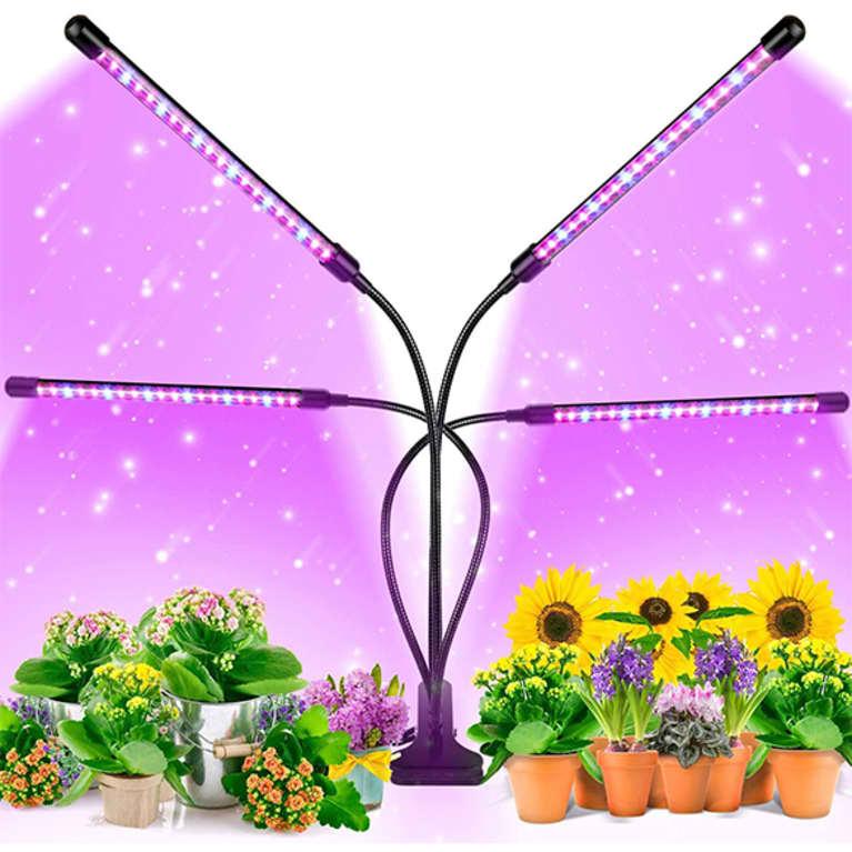 swivel grow lights with purple hue