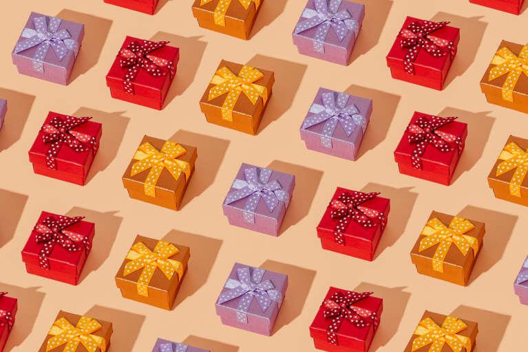 Mosaic Of Some Gift Boxes