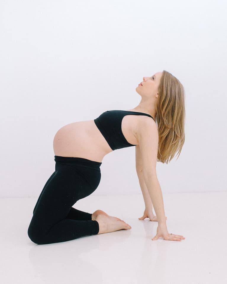 Camel Pose Prenatal Stretch