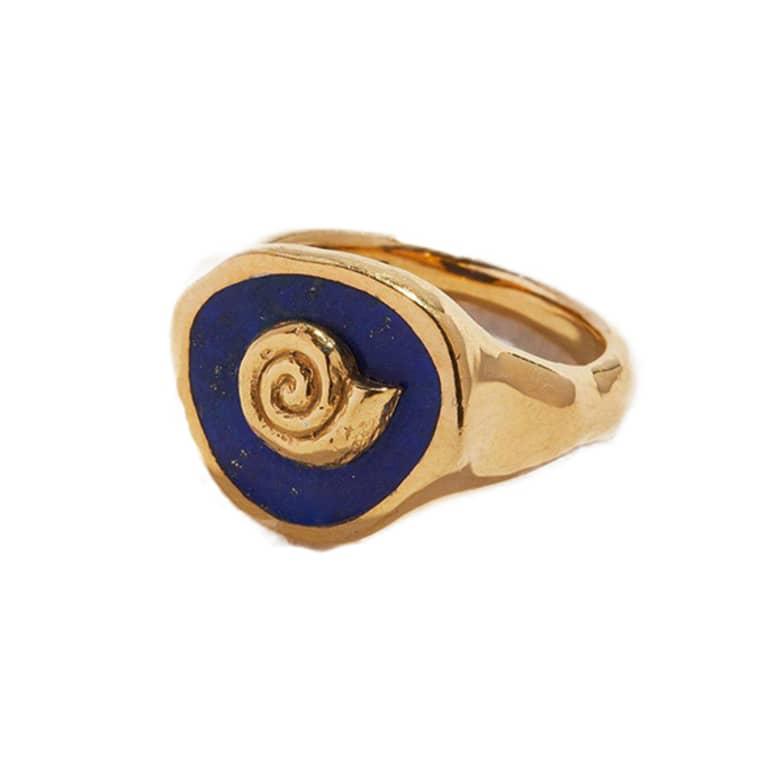 seashell gold ring