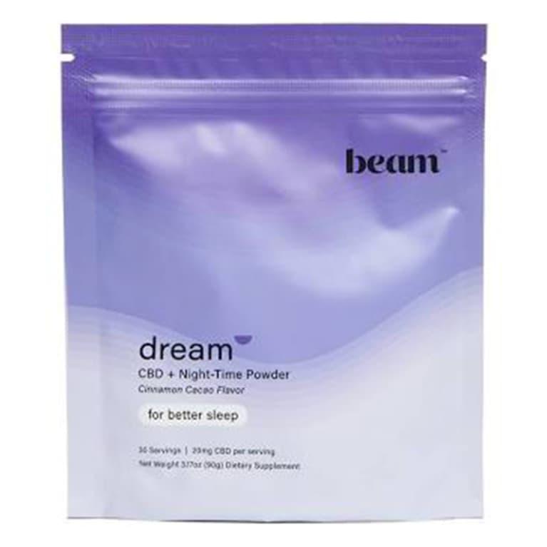 light purple pack of supplement powder