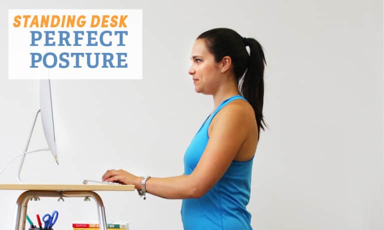 5 Tips For Perfect Posture At A Standing Desk (Photo)